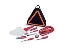 Drivers Road Hazard Tote Kit with Tools and Caution Triangle