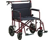 "Aluminum Bariatric Transport Chair with 12"" Wheels, Drive Medical"