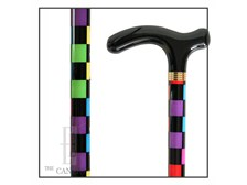 Color Check aluminum adjustable cane