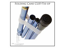 Clip/Tie-up for Folding Travel Canes