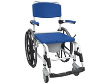 "Aluminum Rehab Shower Commode Chair with 24"" Wheels by Drive"