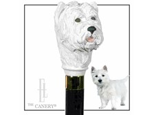 West Highland Terrier walking cane