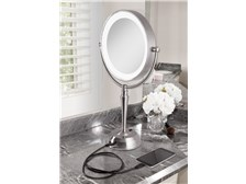 Portable LED Lighted Vanity Mirror with Rechargeable Battery & USB Port