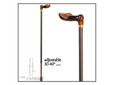 Adjustable Cane: Amber Palm Handle