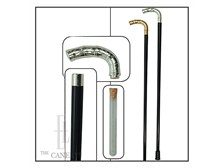Metal Bamboo handle Flask cane