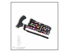 BUBBLES Folding Adjustable Travel Cane by Switch Sticks