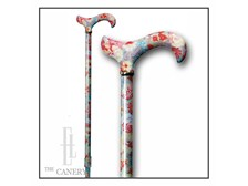 Peach Floral pattern, Classic Canes UK