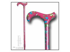 Pink floral walking cane
