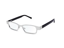 Eyejusters Adjustable Readers in deluxe steel/acetate