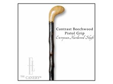 Contrast Beechwood Pistol Grip on Rustic Hardwood shaft