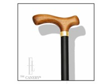 Extra Long Wood Walking Cane with Fritz Handle