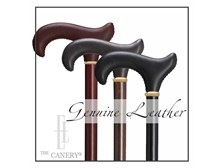 Leather Handle Derby Cane