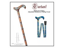 UK Tartan Adjustable Cane