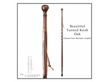 Twisted Oak Turned Knob Cane by Brazos Walking Sticks